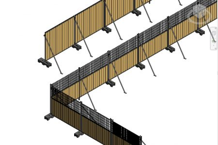 3D  M70 Mobile fence
